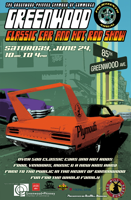 Greenwood Car Show poster